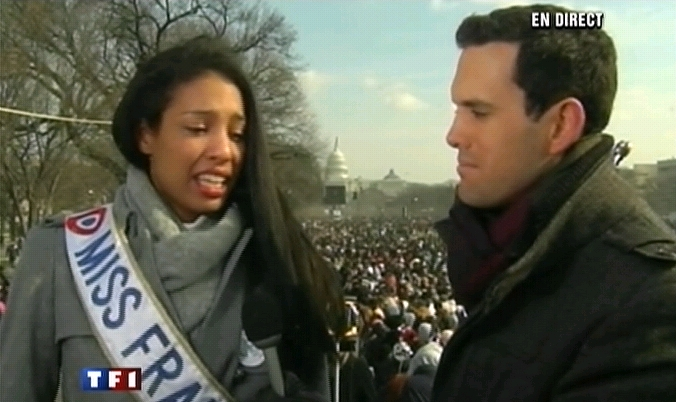 Video   Miss France en pleurs apres le discours dObama