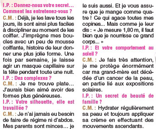 Interview   Secret de beauté de Miss France
